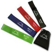 Pack of 4 Resistant Loop Exercise Bands Workout Fitness Yoga Crossfit Strength