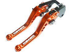 SINNIS APACHE 125 BRAKE & CLUTCH ORANGE SHORT LEVERS RACE TRACK ROAD LASER R15A5