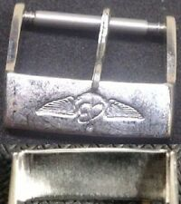 Original Vintage Breitling Buckle Fibbia 18mm Stainless Steel Light signs L@@K !