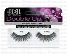 ARDELL 100% HUMAN HAIR DOUBLE UP LASHES EYELASHES 203 THICK FEATHERY LONG LENGTH