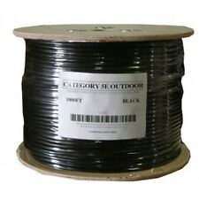 50'FT CAT5'e OUTDOOR UNDERGROUND BURIAL CABLE WIRE WATERPROOF UV THICK 24-AWG