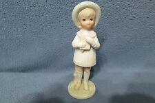 "Lefton Girl Figurine Christopher Collection ""Thanks Unto The Lord"" 5"" #03230"