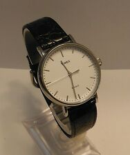 Classic Mens Timex Indiglo SS Black/Croc Leather Watch.