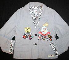 NWOT Diane Von Furstenberg Gap Kids DVF Patchwork Blazer Jacket Girl Size 10/12