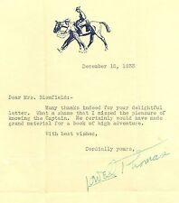Signed Dec 15, 1933 Lowell Thomas Writer/Broadcaster/TV Letter