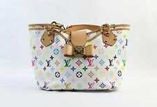 Louis Vuitton White Multicolored Monogram Double Chain Handle Annie Purse