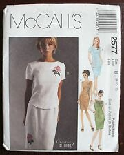 MCCALL PATTERN 2577 CREATIVE CLOTHING CLOSE FIT TOP SEXY PENCIL SKIRT 8-10-12