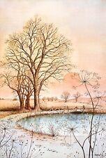 Yves Poy Peacefull Lake Poster Kunstdruck Bild 99x68cm - Kostenloser Versand