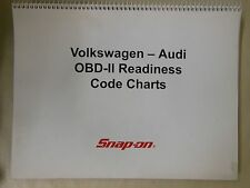 Snap On VW Audi OBD-II Readiness Code Charts 2004