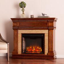 Southern Enterprises Faircrest Stone Look Electric Fireplace - Oak Saddle FE9617
