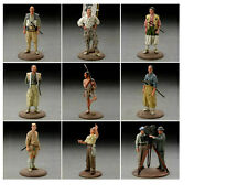 Akira Kurosawa Seven Samurai Complete 9 Figure Set  Import  (Color) US SELLER