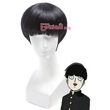 Anime Mob Psycho 100 Kageyama Shigeo Short Straight Black Bang Cosplay Wig ZY81B