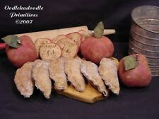 Primitive Fall Fried Apple Pies Halloween Tucks Holiday Filler Harvest PATTERN