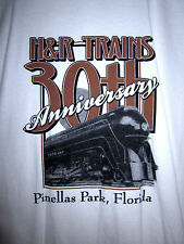 H&R TRAINS model railroad store T shirt Pinellas Park XL Florida tee Tampa