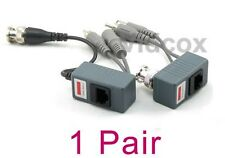 1 Pair (Video Power Audio) Balun BNC to Cat5e Cat6 UTP for CCTV Security Camera