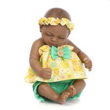 "11"" Lifelike Reborn Baby Doll Soft Silicone Lifelike Cute Sleep Girl African"