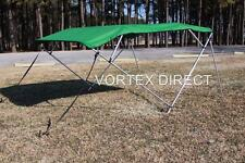 "NEW VORTEX GREEN 4 BOW PONTOON/DECK BOAT BIMINI TOP 12' long 79-84"" wide"