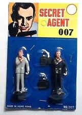james bond 007 action figure vintage gilbert era Sean Connery Mint On Card