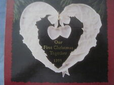 1999 Hallmark OUR FIRST CHRISTMAS TOGETHER Ornament HEART New