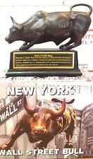 Licensed Wall Street Bull with Stand, Large Size 8 inches, NYC Souvenir