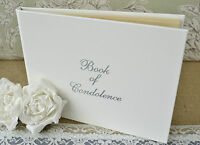 White Book of Condolence. Book of Remembrance. Funeral Guest Book. Memorial Book