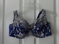 Soma Sensuous Lace Unlined Full Cup Jewel Blue Bra 40 C  NWT
