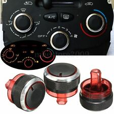Heater Air Control Knob Aluminium Buttons Switch For Peugeot 206 207 Citroen C2