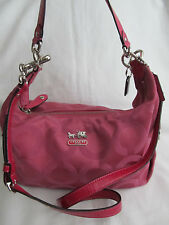 Coach Medium Pink Op Art Madison Signature Crossbody Bag Satchel Purse Handbag