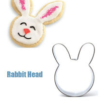 Rabbit Head Shape Stainless Steel Cookie Cutter Cake Baking Mold
