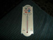 Vintage FRIENDSHIP LIFES GREATEST GIFT Thermometer W/ CUTE BEARS Made In Taiwan