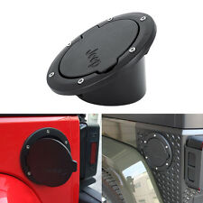 Gas Tank Cap Cover Fuel Oil Tank Filler Door for 07-16 Jeep Wrangler JK 2/4 Door