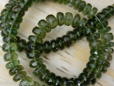 30 checkered cut beads MOLDAVITE size about 5.5mm x 2mm each total = 30 BEADS