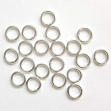 10 Sterling Silver Closed Jump Rings 5mm Findings