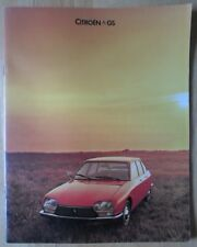 CITROEN GS range 1977 1978 UK Mkt sales brochure