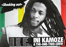 "INI KAMOZE & THE ONE TWO CREW TOUR POSTER / KONZERTPLAKAT ""SHOCKING OUT TOUR"""