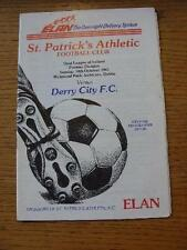 18/10/1987 St Patricks Athletic v Derry City  . No obvious faults, unless descri