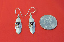 D16 PAIR OF HAND CRAFTED STERLINGR SILVER .925 TIBETAN EARRING MADE IN NEPAL