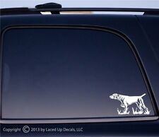 German Shorthaired Pointer vinyl decal,gsp,hunting dog,bird,gun,akc,puppy,SM