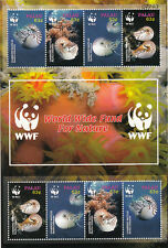 Palau MNH Sc 853a Souvenir sheet Value $ 10.50 US $$  WWF Nautilus Sea Shells