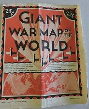 Vintage Geographia GIANT WAR MAP OF THE WORLD