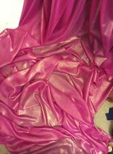 "3 MTR QUALITY HOT PINK/GOLD SHIMMER CHIFFON FABRIC...58"" WIDE £7.49"