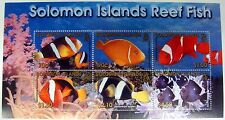 SOLOMON ISLANDS REEF FISH STAMPS SHEET OCEAN MARINE LIFE SEA LIFE TROPICAL #926A