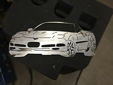 Plasma cut C5 Corvette metal man cave sign garage art  Chevrolet