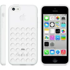 Original Genuine Apple iPhone 5C Silicone Dot Case - White MF039ZM/A