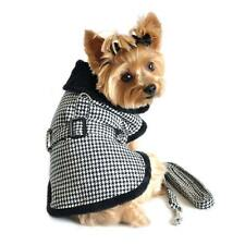 SM DOG COAT chihuahua maltese yorkie toy poodle HOUNDSTOOTH DOG JACKET & LEASH