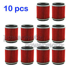 10 PCS Oil Filter For Yamaha YZ450F YZ250F WR250F WR450F Dirt Bikes