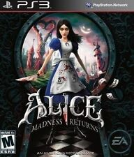 PLAYSTATION 3 PS3 GAME ALICE MADNESS RETURNS BRAND NEW & SEALED