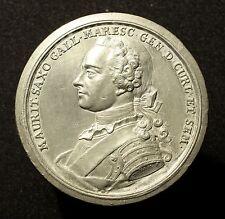 Strassburg, Zinnmedaille 1750, v. D. Kamm, Denkmal Marschall Moritz v. Sachsen
