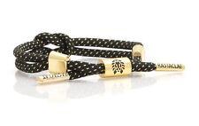 Rastaclat Convergence Gold Black Braided Shoelace Wristband Bracelet Jewelr