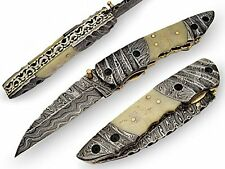 Thracian Premium Hand Crafted Pocket Knife Damascus Blade &  Bolster AT-P-1411